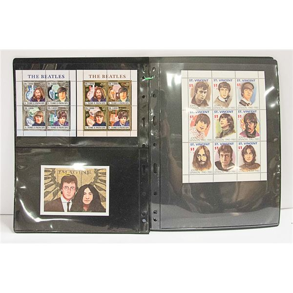 THE BEATLES - STAMPS OF ST. TOME E. PRINCIPE; &
