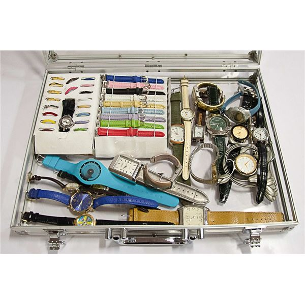 CLEAR CASE FULL OF WATCHES