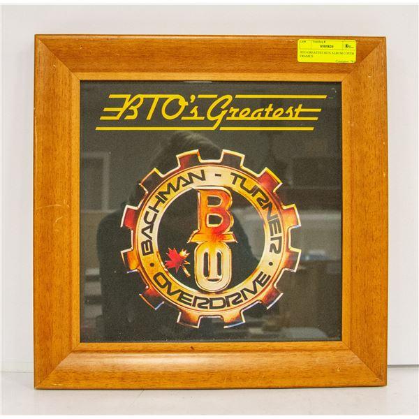 BTO GREATEST HITS ALBUM COVER FRAMED