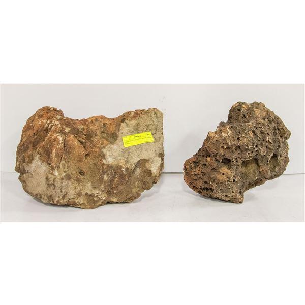 2 PIECES OF GENUINE DECOR LAVA ROCK