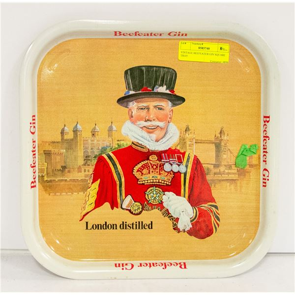 VINTAGE BEEF EATER GIN SQUARE TRAY