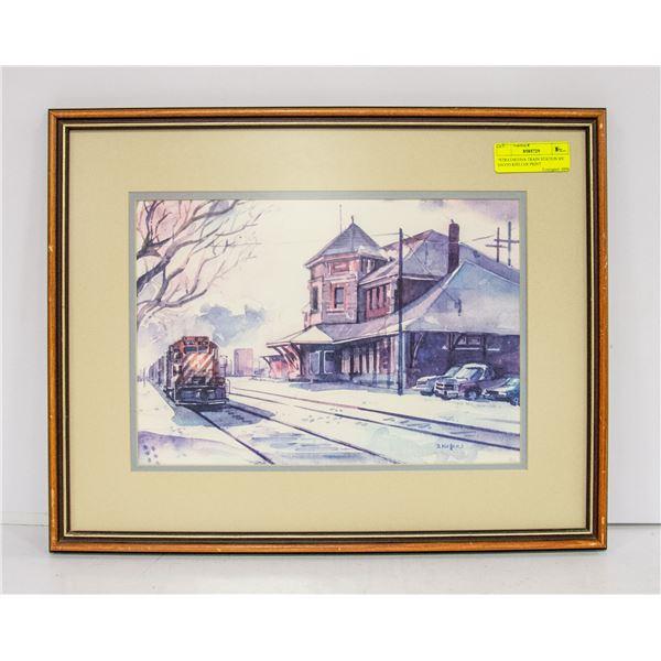 """STRATHCONA TRAIN STATION BY DAVID KIELLER PRINT"
