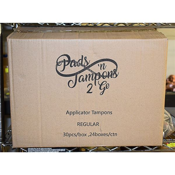 CASE OF 24 - 30 PACK OF REGULAR SIZE TAMPONS