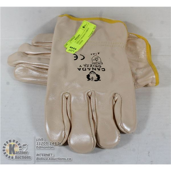 PAIR OF GRIZZLY CANADA CABLE PULLER GLOVES