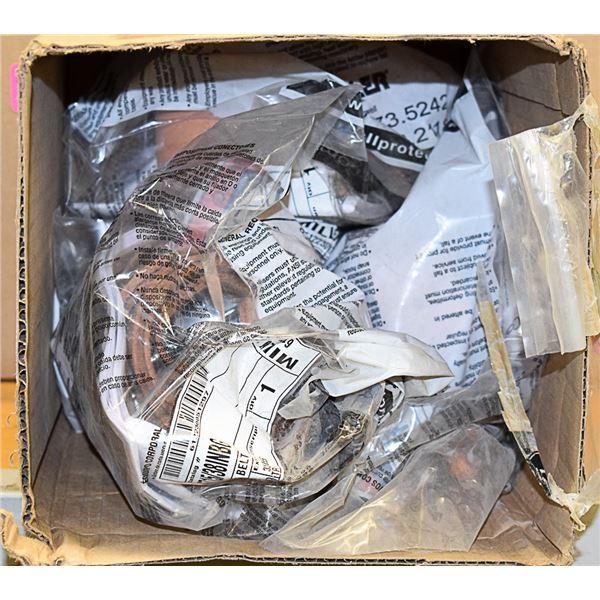 BOX LOT OF MILLER MINER BELTS