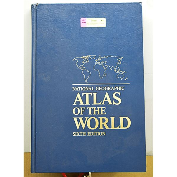 """NATIONAL GEOGRAPHIC ATLAS OF THE WORLD 18""""BY12"""""""