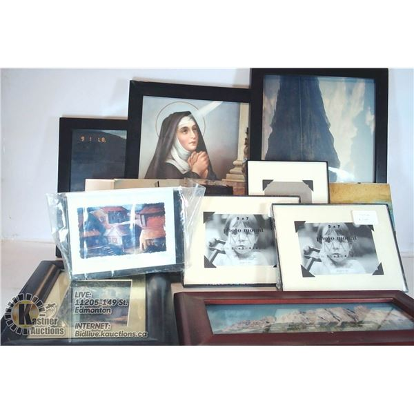 NEW PICTURE FRAMES, ART & SOME RELIGIOUS PICTURES