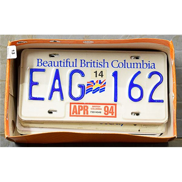LICENCE PLATES (90'S - 00'S) SOME DOUBLES  RTC
