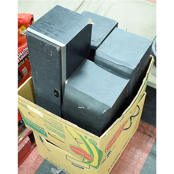 6 SPEAKERS AND SUBWOOFER (SONY AND HITACHI)