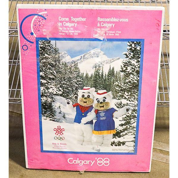 CALGARY 88 OLYMPICS MASCOTS HANGING
