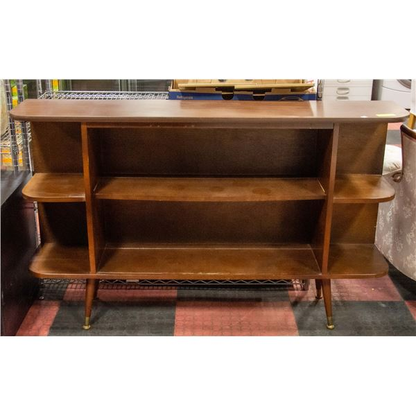 """VINTAGE DISPLAY CABINET-ROUNDED ENDS-12X56X34""""TAL"""