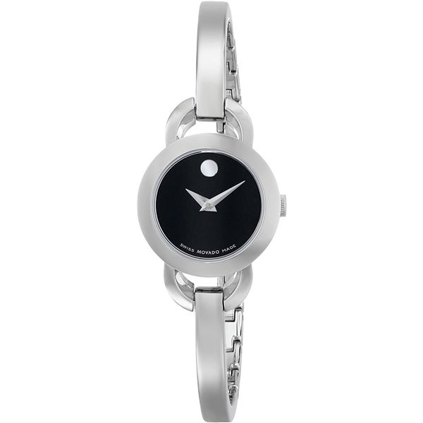 SWISS MOVADO LADIES BANGLE WATCH 22MM MUSEUM DIAL