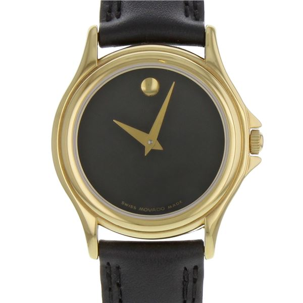 SWISS MOVADO 28MM GOLD PLATED MUSEUM DIAL LADIES