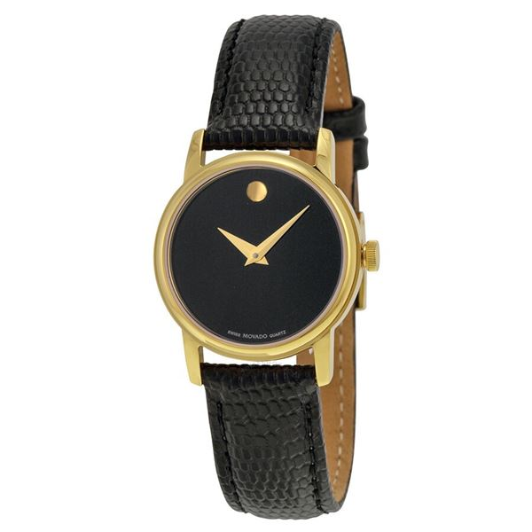 SWISS MOVADO 26MM GOLD PLATED MUSEUM DIAL LADIES
