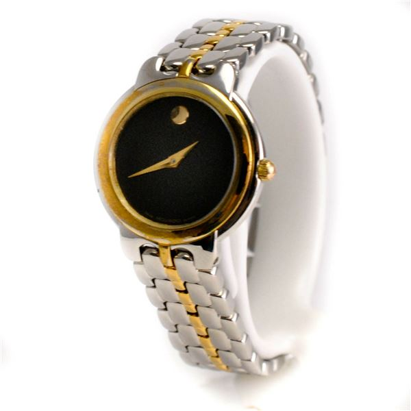 SWISS MOVADO CLASSIC TWO TONE 26MM LADIES WATCH