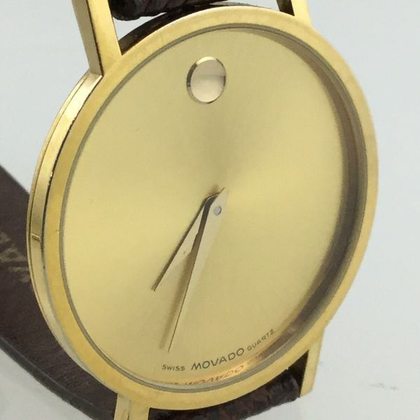 SWISS MOVADO GOLD PLATED 32MM UNISEX WATCH