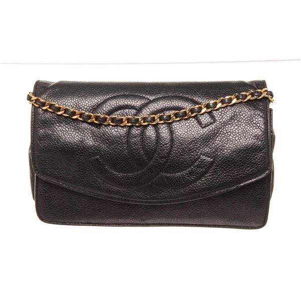 Chanel Black Leather Timeless Small Shoulder Bag