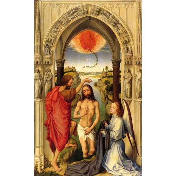 Rogier van der Weyden - Baptism of Chris