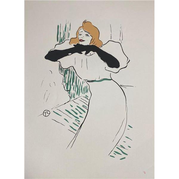 """Toulouse Lautrec """"Portrait d'Yvette Guilbert"""""""