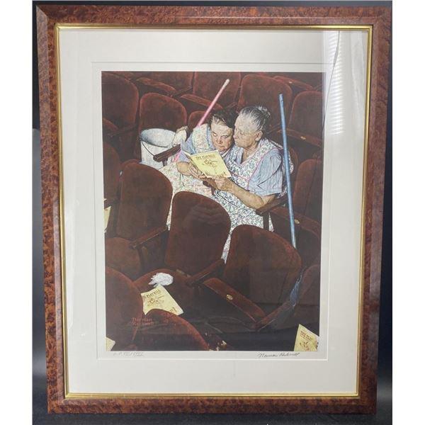 """Norman Rockwell """"CHARWOMEN"""" Framed"""