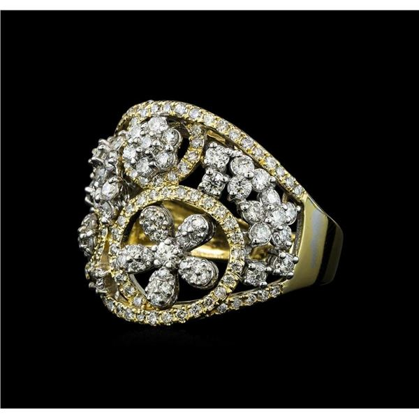1.12 ctw Diamond Ring - 14KT Yellow and White Gold