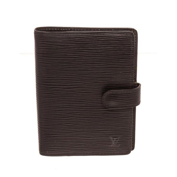 Louis Vuitton Black Epi Leather Agenda PM Wallet