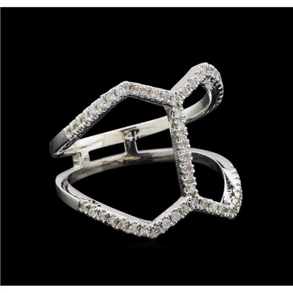 0.31 ctw Diamond Ring - 14KT White Gold