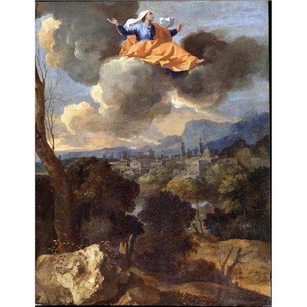 Nicolas Poussin - The Translation of Saint Rita of Cascia
