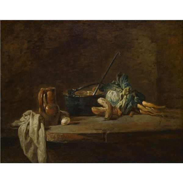 Jean Baptiste Chardin - Vegetables for the Soup