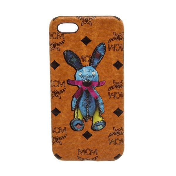 MCM Cognac Visetos Coated Canvas Rabbit iPhone 5 Hard Case