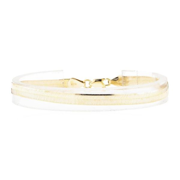 Silk Herringbone Chain Bracelet - 10KT Yellow Gold