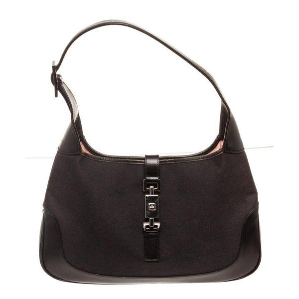 Gucci Black Vintage Jackie Ba Hobo Bag