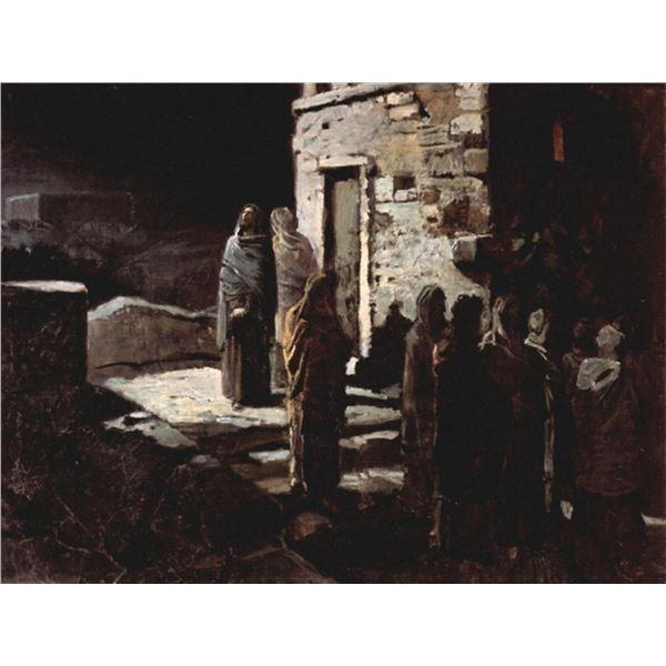 Nikolai Nikolaevich Ge - Christ Enters Garden of Gethsemene