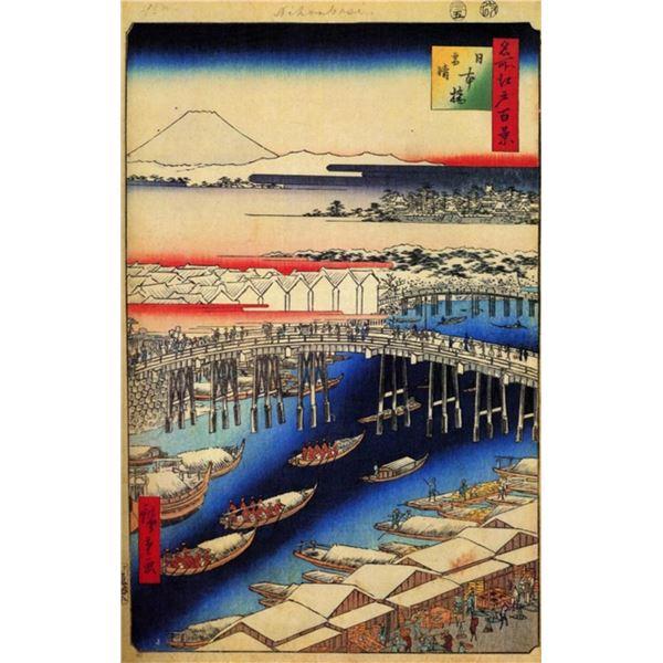 Hiroshige Nihonbashi, Clearing After Snow