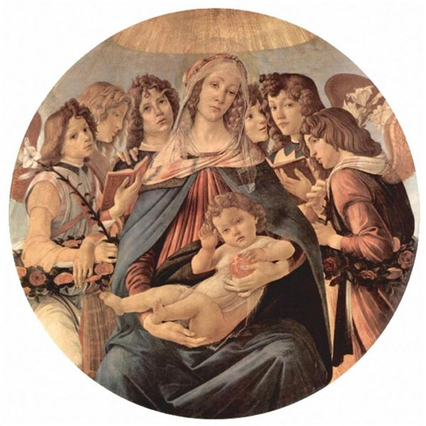 Sandro Botticelli - Maria with Christ Child and Six Angels