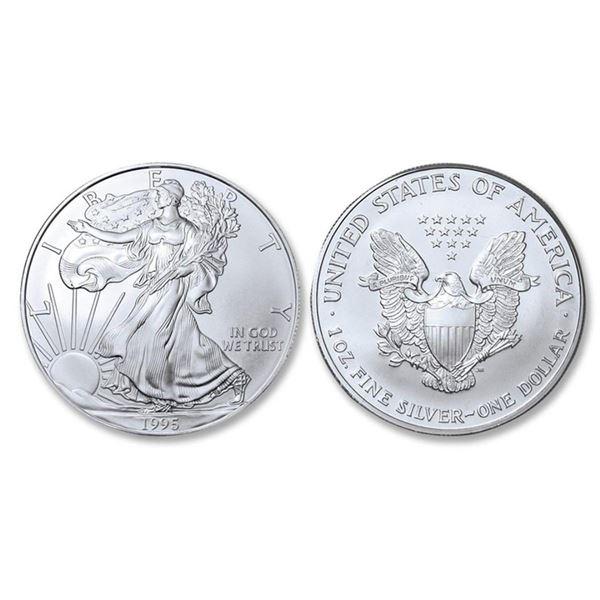 1995 American Silver Eagle .999 Fine Silver Dollar Coin