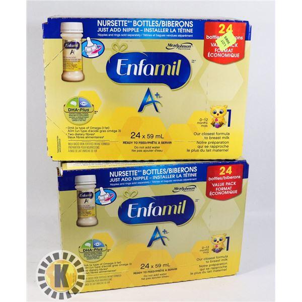 TWO CASES OF ENFAMIL NURSETTE BOTTLES