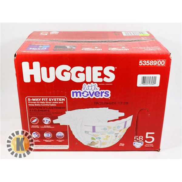 CASE OF HUGGIES SIZE 5