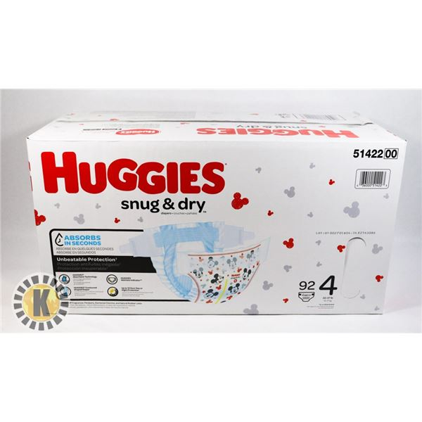 CASE OF HUGGIES SNUG & DRY SIZE 4
