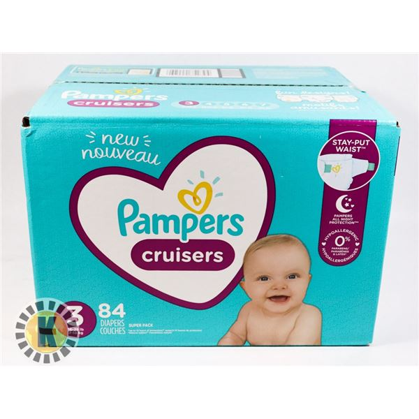 CASE OF PAMPERS SIZE 3