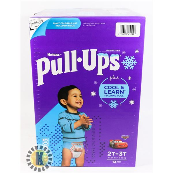 CASE OF HUGGIES PULL UPS SIZE 2T-3T