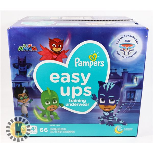 CASE OF PAMPERS EASY UPS SIZE 3T-4T