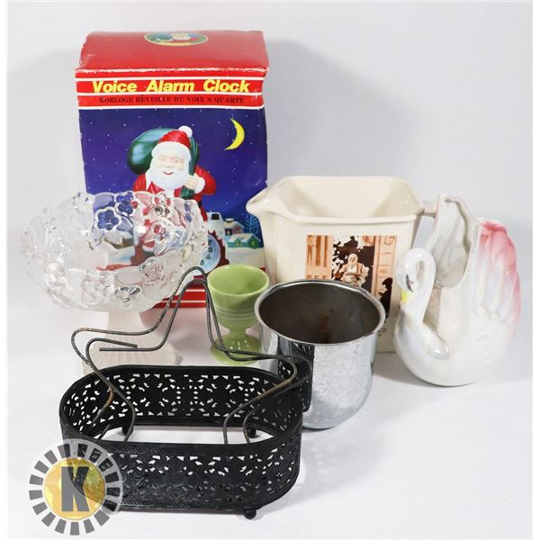 SANTA CLAUSE ALARM AND OTHER HOME DECOR
