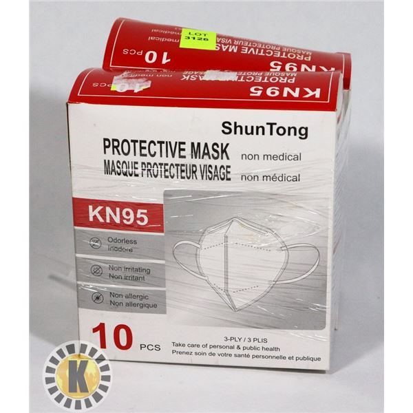 TWO 10 PACKS OF KN95 MASKS