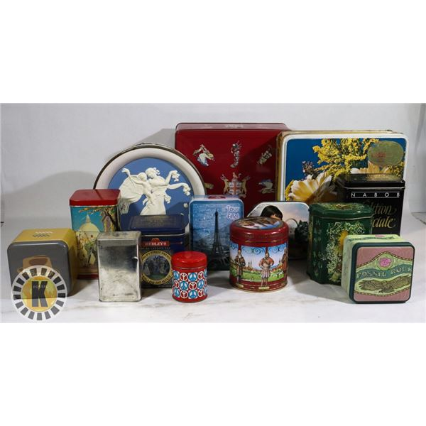 BOX OF COLLECTIBLE CAN/TINS