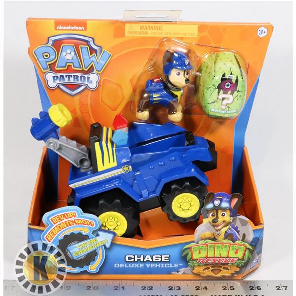 NEW PAW PATROL DINO RESCUE, CHASE AND DELUXE