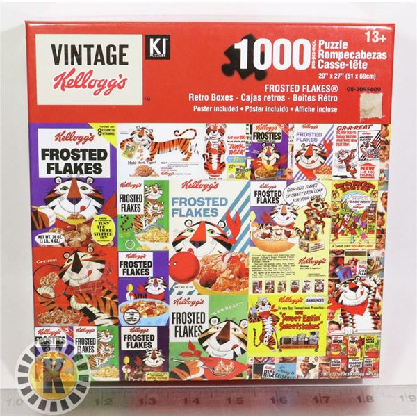NEW KELLOGG'S FROSTED FLAKES 1000PC PUZZLE