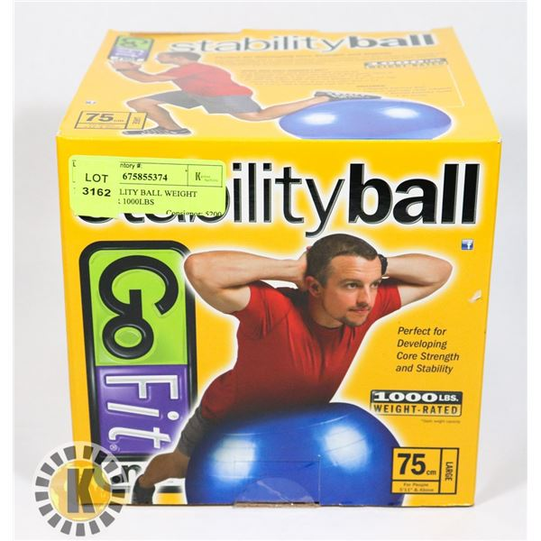 NEW STABILITY BALL WEIGHT RATED FOR 1000LBS