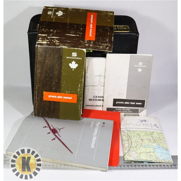 SMALL BRIEFCASE WITH PILOT/FLYING MANUALS