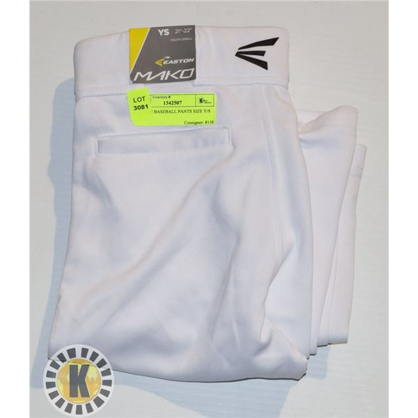 EASTON BASEBALL PANTS SIZE Y/S